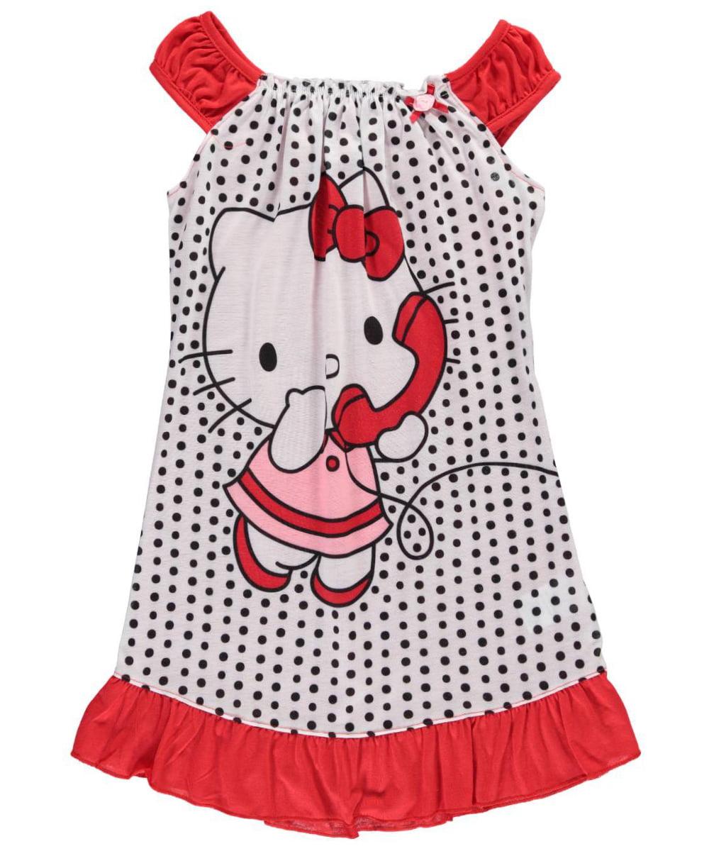 "hello kitty big girls' ""goodnight kitty"" nightgown (sizes 7 - 16)"