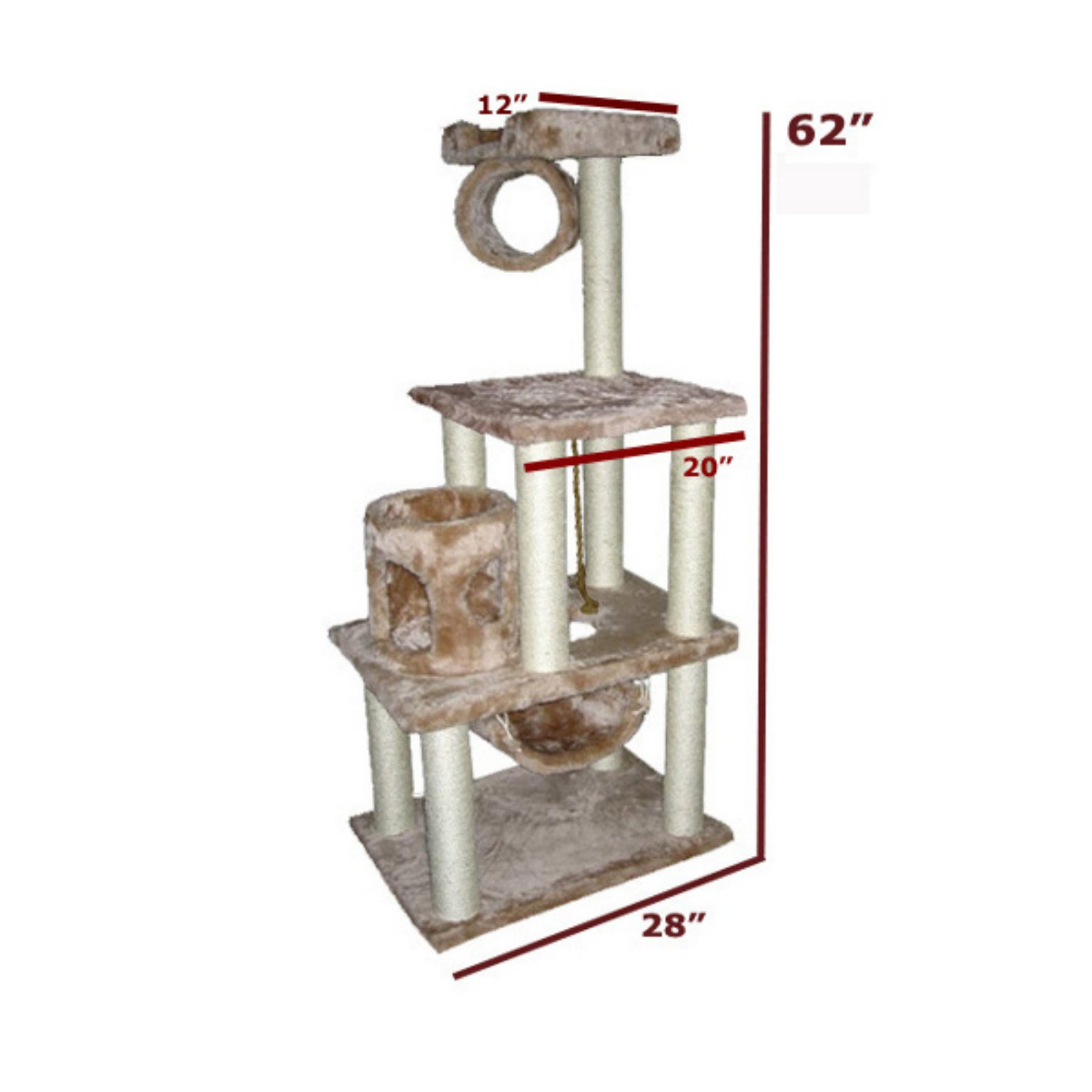 """62"""" Majestic Pet Cat Tree by Majestic Pet Products"""