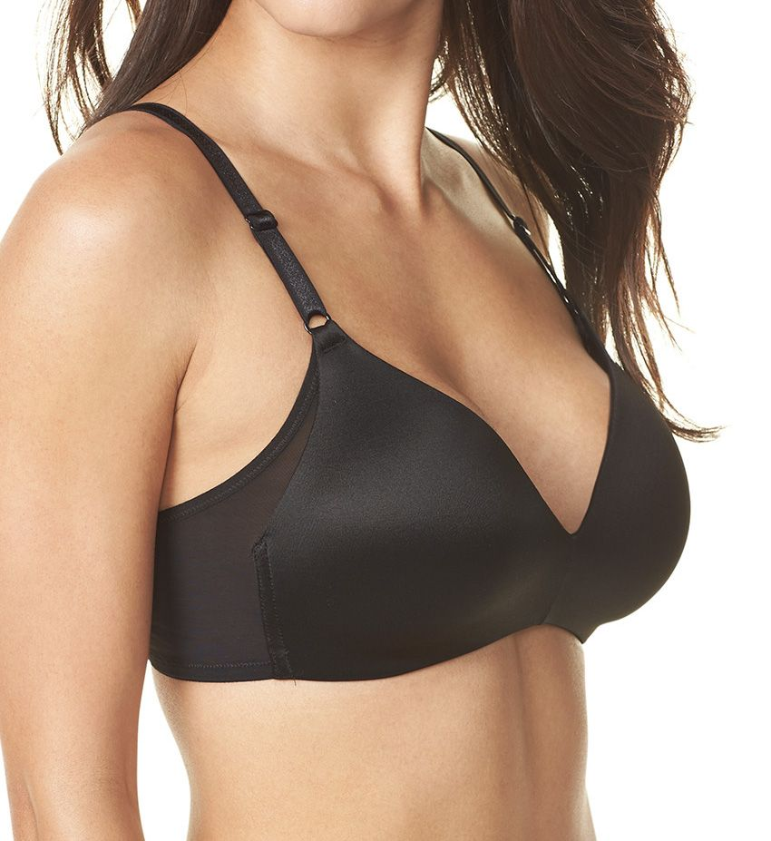 Warner/'s RM3481A No Side Effects Wire-Free Contour Bra w// Mesh Wing