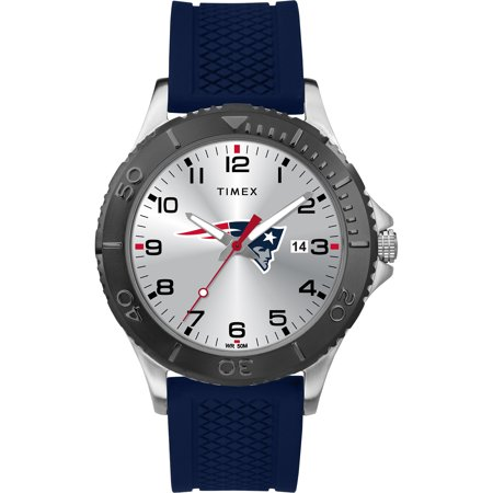 Timex - NFL Tribute Collection Gamer Blue Men's Watch, New England Patriots