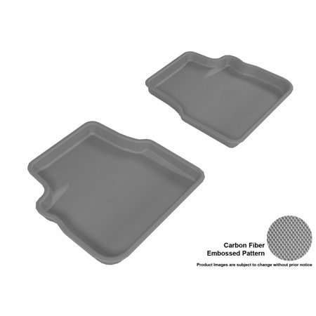 3D MAXpider 2009-2013 Subaru Forester Second Row All Weather Floor Liners in Gray with Carbon Fiber (Carbon Fiber Subaru Skirt)