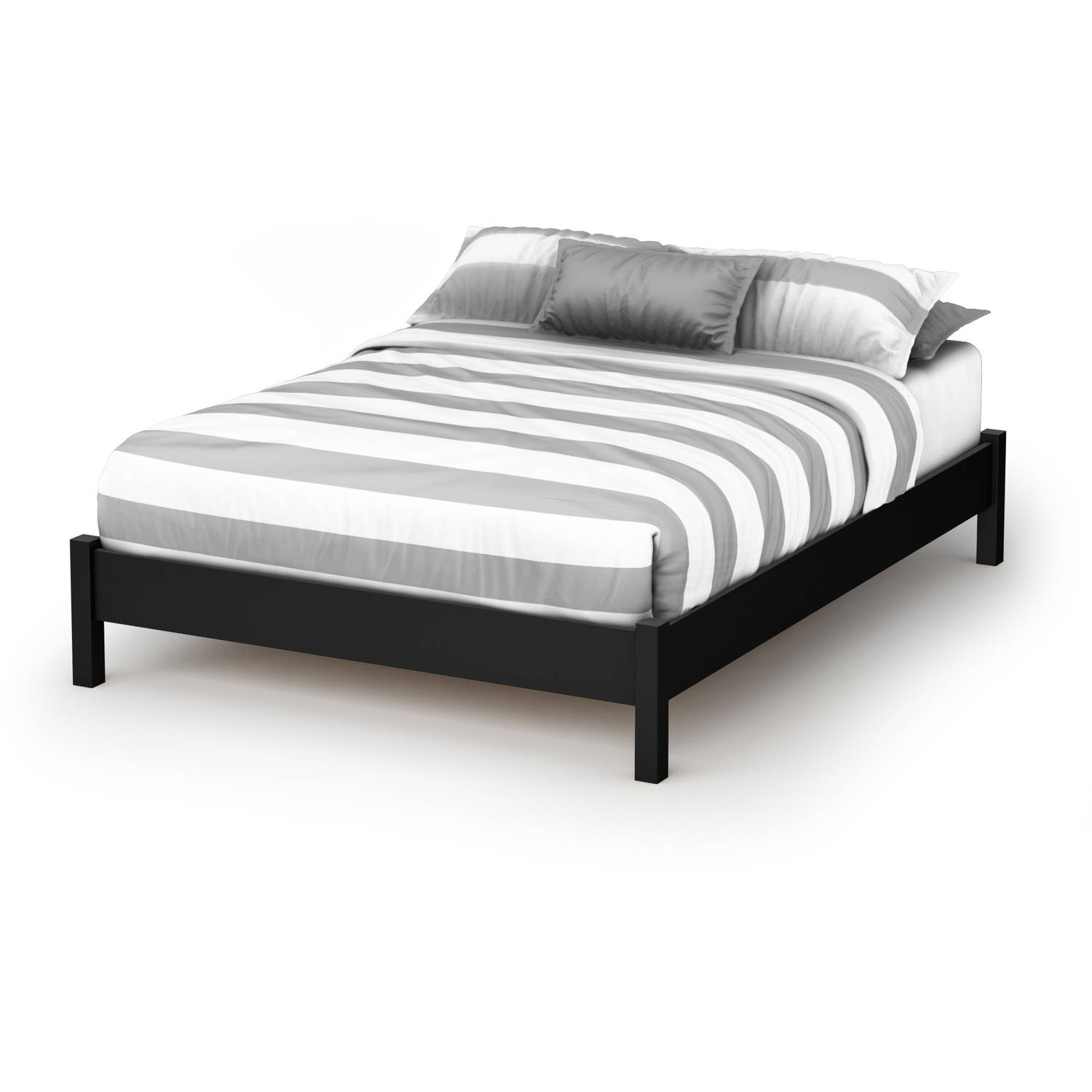 south shore soho full platform bed '' multiple finishes  - south shore soho full platform bed '' multiple finishes  walmartcom