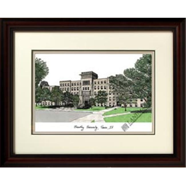 Campus Images IL999R 18'' x 14'' Bradley University Alumnus Framed Lithograph