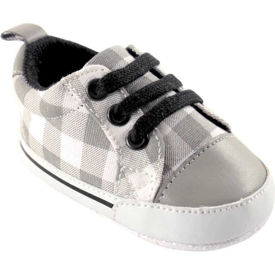Luvable Friends Newborn Baby Boys Print Canvas Sneakers