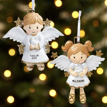 Personalized Sweet Angel Ornament - Available in Boy or Girl Seraphim Angel Ornaments