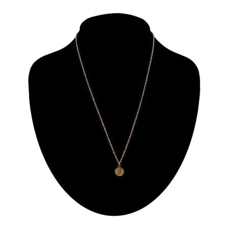 - Gold Tone Chain Cursive Initial Letter J Charm Pendant Necklace