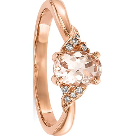 Rose 14k or rose poli morganite et diamants - image 3 de 3