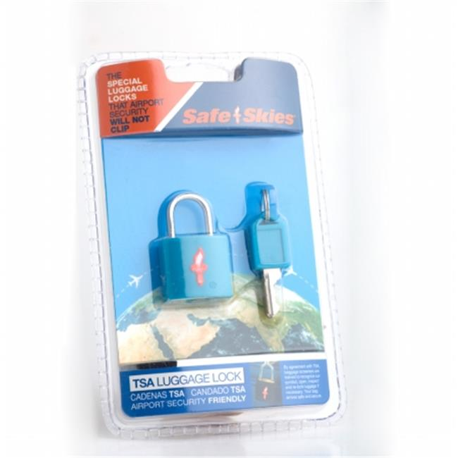Safe Skies No. 202b TSA-Approved padlock single-pack - Caribbean Blue