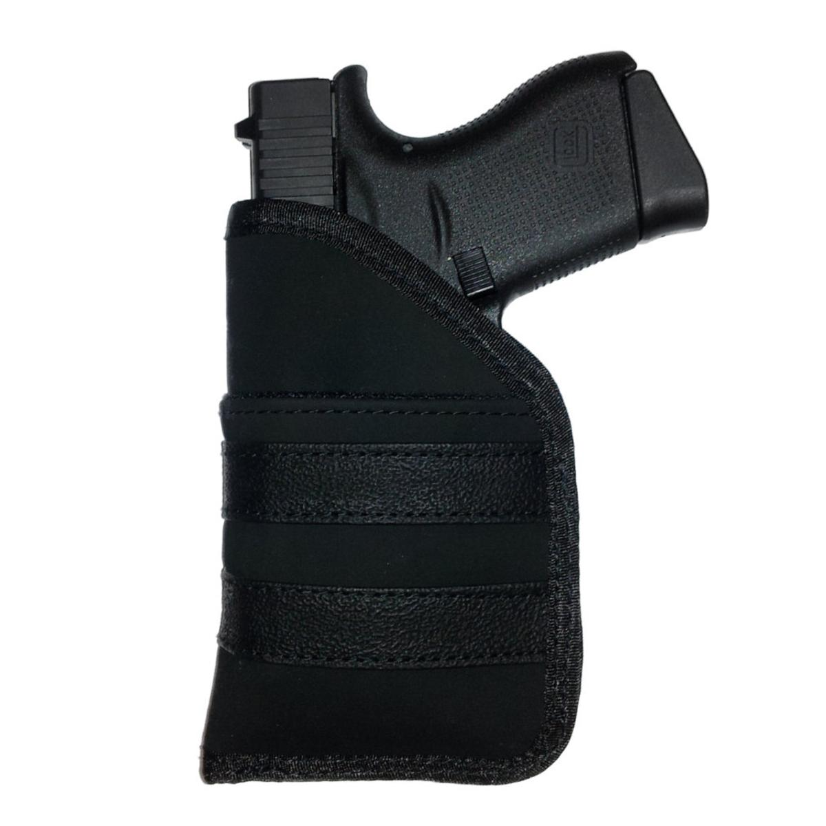 """UTG 3.6"""" Open Top Quick Draw Ambidextrous Pocket Holster, Black"""