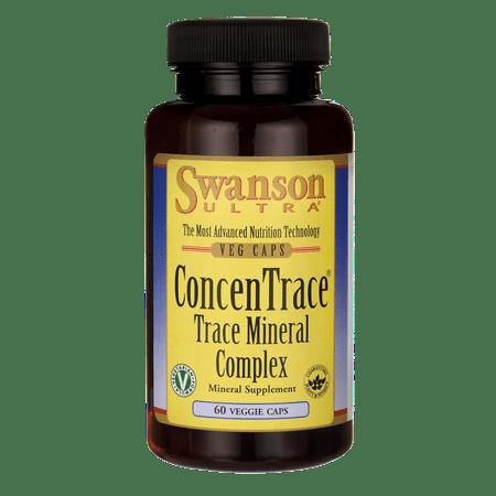 Swanson Concentrace Trace Mineral Complex 60 Veg Caps Complex 90 Veg Caps