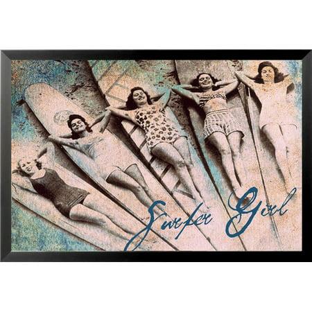 Buy Art For Less 'Surfer Girl III' by Brandi Fitzgerald Framed Graphic Art