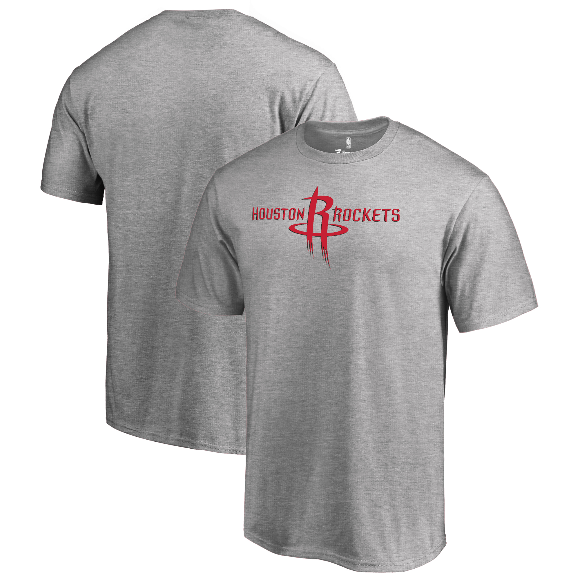 Houston Rockets Fanatics Branded Primary Logo T-Shirt - Heather Gray