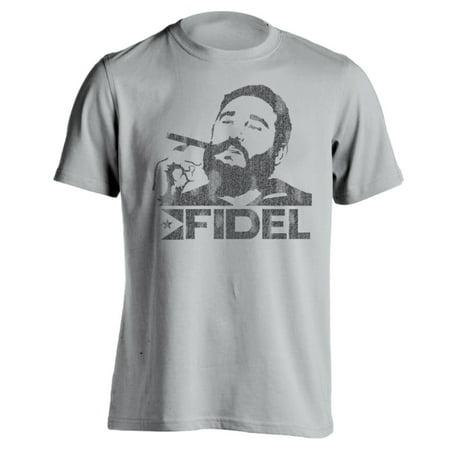 29b2f55c Donkeytees - Fidel Castro 2X-Large Gray Basic Men's T-Shirt - Walmart.com