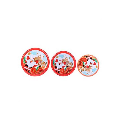 DaHo Christmas Santa Nested Gift 3 Piece Storage Jars Set by