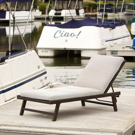 Waveland all weather wicker adjustable chaise lounge for All weather chaise lounge