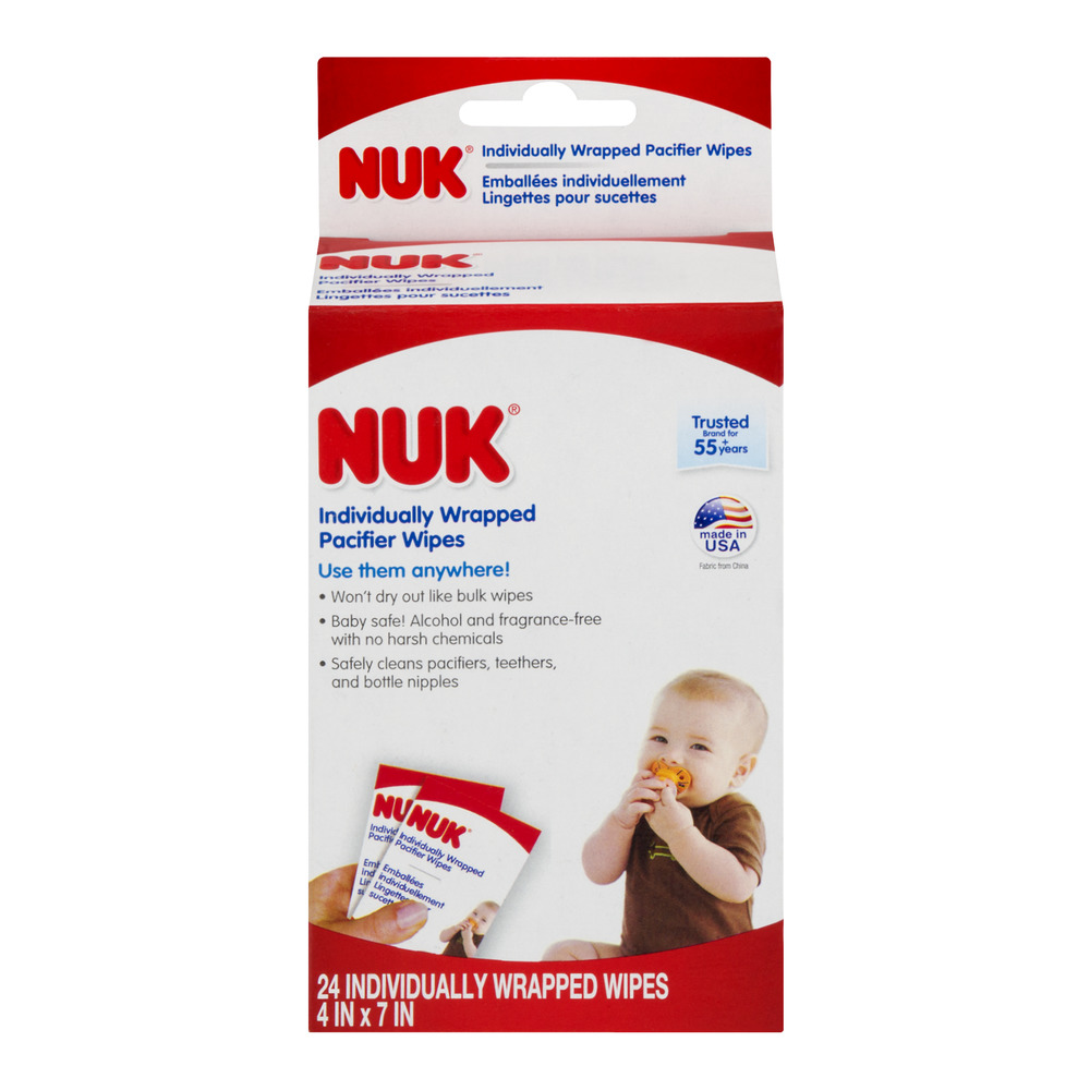 NUK Individually Wrapped Pacifier Wipes - 24 Count