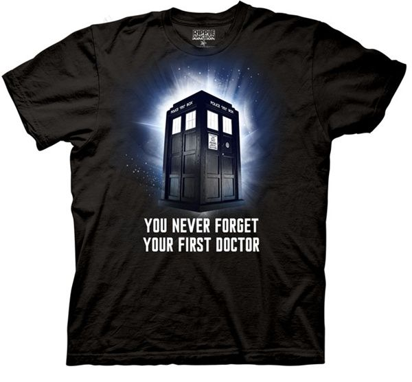 Doctor Who You Never Forget Your First Doctor Men's Black T-Shirt