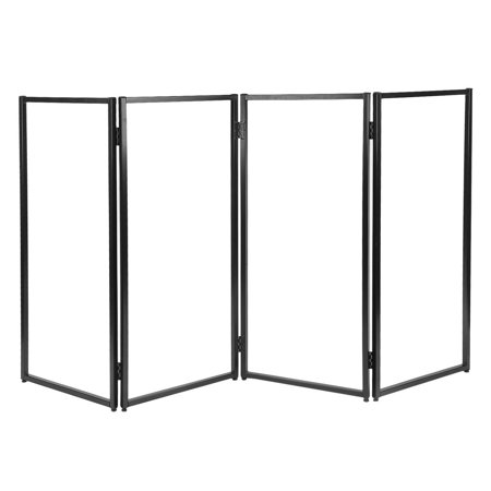 4 Panel Decorative Room Divider Privacy Screen Home Office Shoji ...