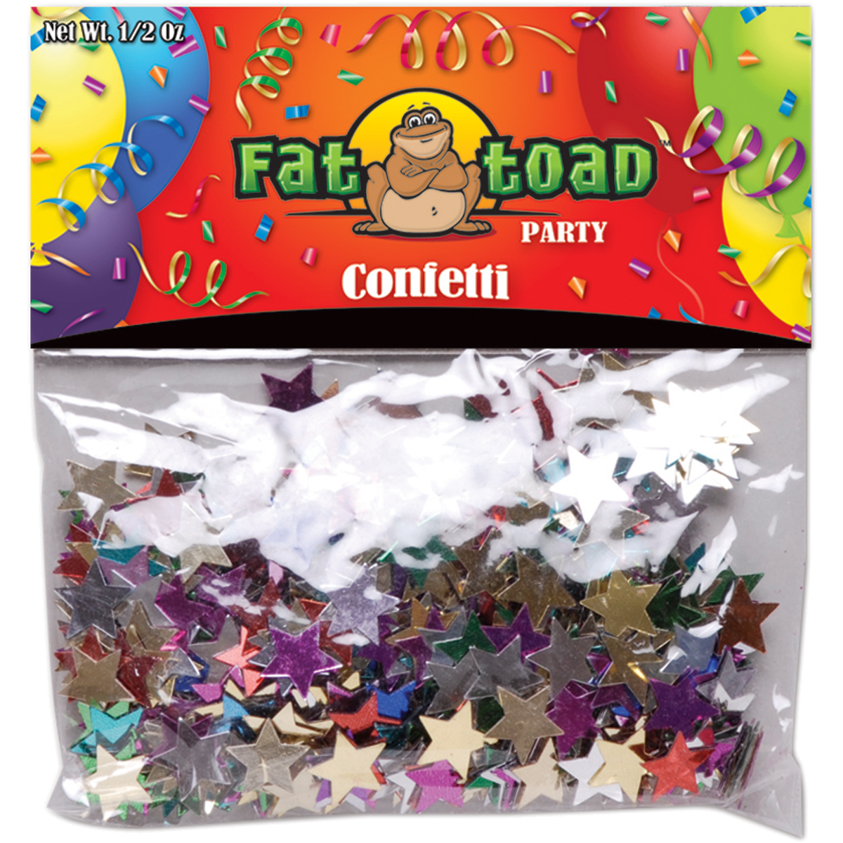 Fat Toad Confetti .5oz-Colored Stars