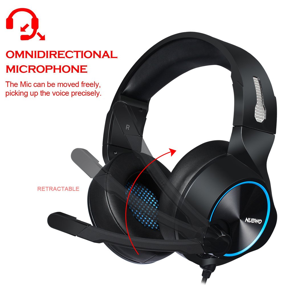 NUBWO N11 3 5mm Gaming Headset PC Deep Bass Headphones On Ear Earphone With  Microphone For PS4 New Xbox One Mobile Phone Computer Laptop