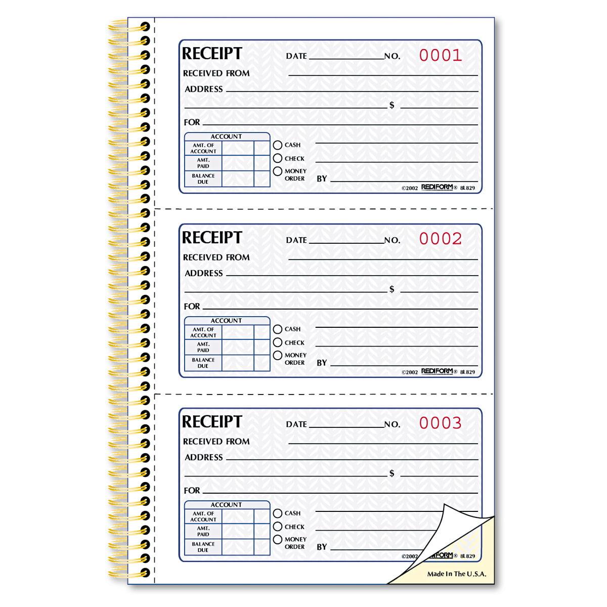 Rediform Money Receipt Book, 5 x 2 3/4, Two-Part Carbonless, 225 Sets/Book
