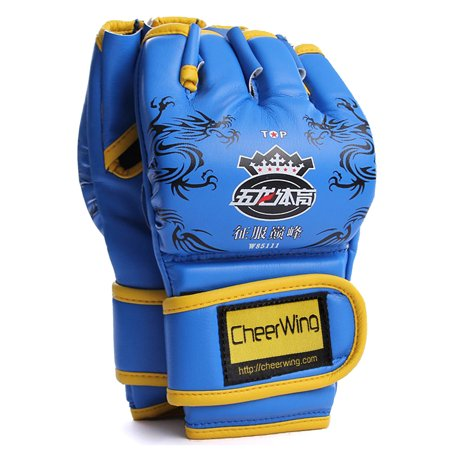 Cheerwing PU Leather MMA UFC Half Finger Boxing Gloves Sanda Fighting Sandbag Gloves Punch Mitts of