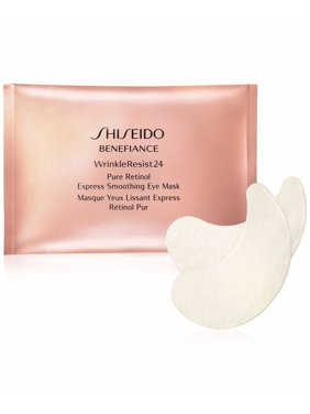Shiseido Benefiance WrinkleResist24 Pure Retinol Express Smoothing Eye Face Mask, 12 Ct