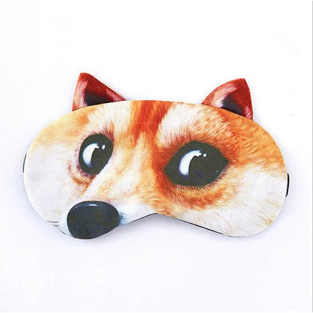 Sleep Mask, Justdolife Lovely Cute Dog Cat Creative Lightweight Cotton Blindfold Eye Shade Cover Sleeping Cover with Ice Bag for Adults Kids Women Men Female for $<!---->