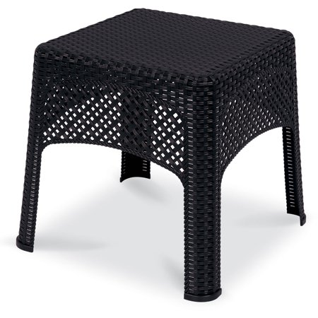 Us Leisure Resin Wicker Side Table Coffee Walmart Com