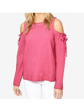 65f2f9d745f5a4 Product Image Sanctuary NEW Pink Womens Size Medium M Crewneck  Cold-Shoulder Sweater