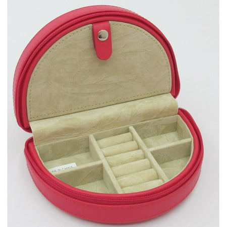 Half Moon Jewelry Case (Zippered Half Moon Jewelry)