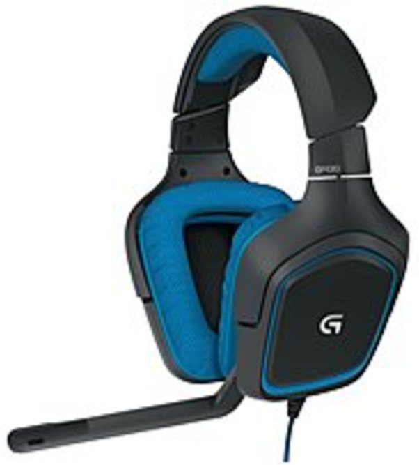 Logitech 981-000536 G430 Over-the-Ear Surround Sound Gaming (Refurbished)