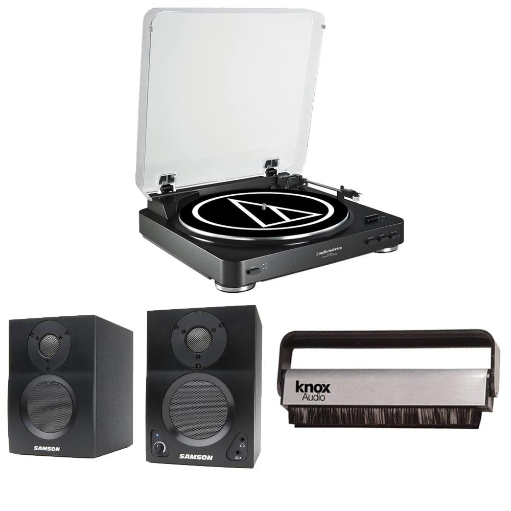 Audio Technica AT-LP60 Automatic Turntable w  Samson SAMBT3 Bluetooth Monitors by Audio-Technica