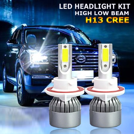 H13 9008 CREE LED Headlight Conversion Kit 1300W 195000LM HI/LOW Beam Bulb 6000K ()