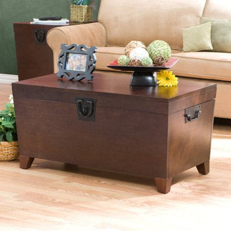 Southern Enterprises Pyramid Trunk Coffee Table - Espresso - Trunk Coffee Tables - Walmart.com