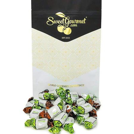 SweetGourmet Chocolate Filled Mints | Premium Hard Candies | Arcor Bulk Candy | 15oz bag