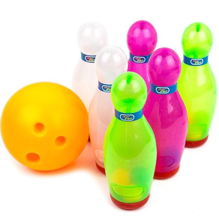 Toysery Bowling Game Set - Inflatable Bowling Ball Set for Kids - Outdoor & Indoor Fun for Children And Adults- Includes 1 Ball & 6 Pins (Inflatable Bowling)