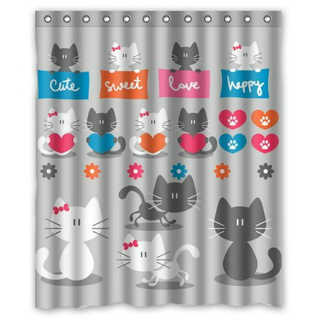 BPBOP Owl Shower Curtain 60x72 Inches