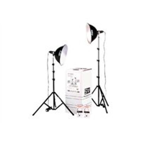 Smith-Victor Photoflood KT1000 KIT - Continuous light kit - 2 heads x 1 lamp - tungsten