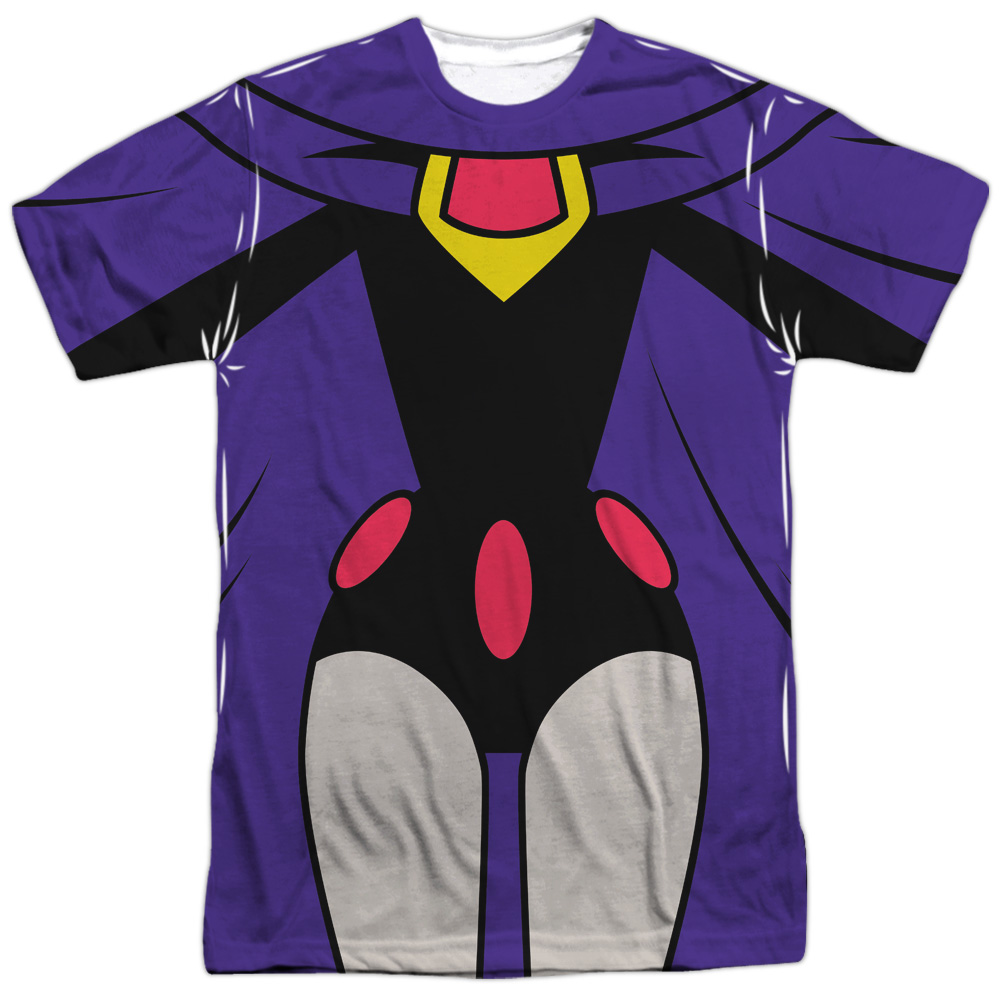 Teen Titans Go Raven Uniform (Front Back Print) Mens Sublimation Shirt