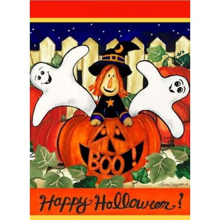 Happy Halloween Poster Print by Laurie Korsgaden