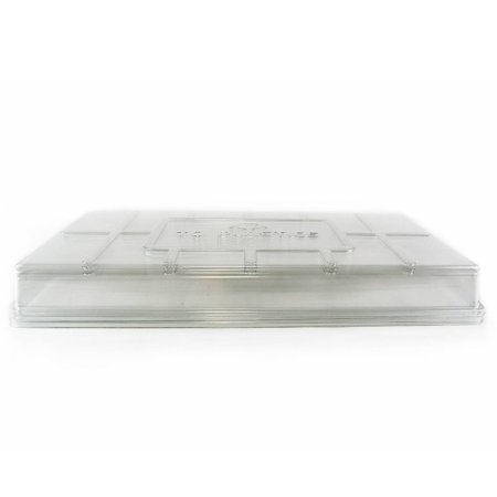 Plant Tray Clear Plastic Humidity Domes: Pack of 5 - Fits 10 Inch x 20 Inch Garden Germination Trays - Greenhouse Grow Covers, 5 Pack - Clear Plastic.., By Living (Fpt Garden)