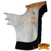 Bull Riding Chinks Chaps Xl Pro Rodeo Bronc Smooth Leather