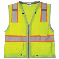 Brilliant Series Heavy Duty Class 2 Vests, Large, Lime, Sold As 1 Each