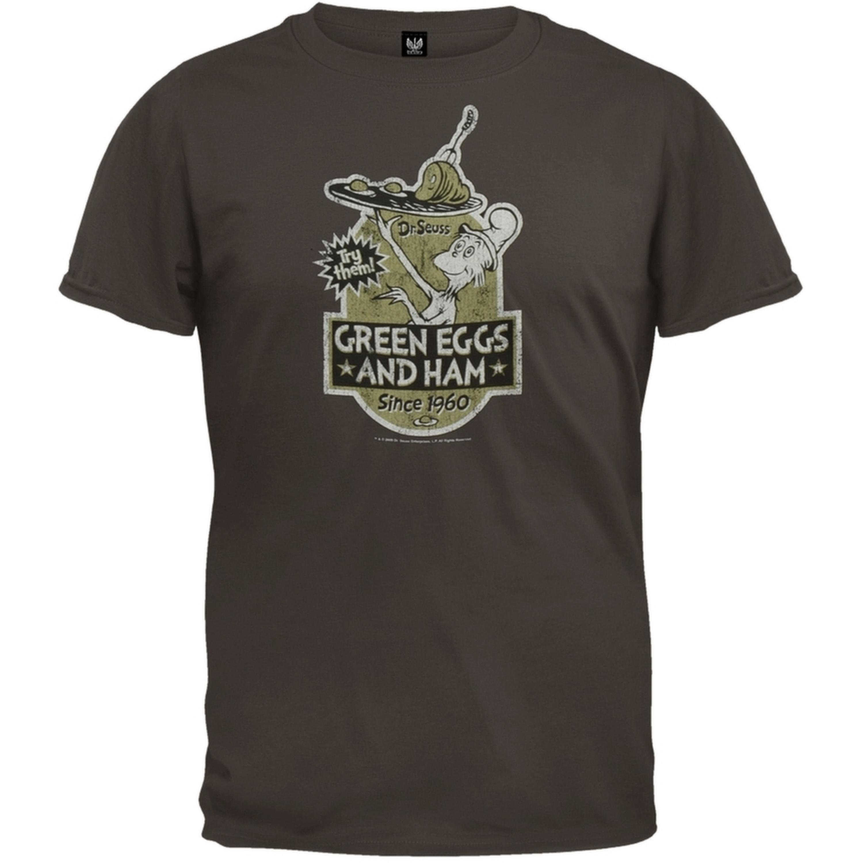 Dr. Seuss - Green Eggs Label T-Shirt
