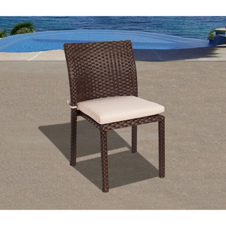 Liberty outdoor all weather wicker side chairs set of 4 for All weather garden chairs