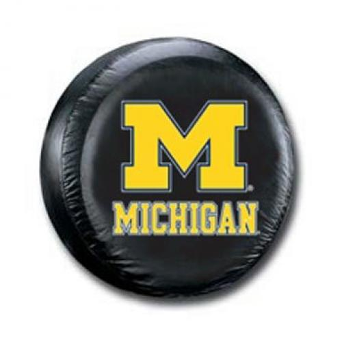 Michigan Wolverines Standard Size Black Spare Tire Cover