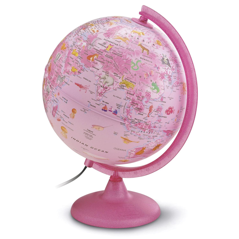 Waypoint Geographic Safari Explorer Pink Animals Globe