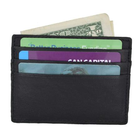 Swiss Marshal Soft Premium Genuine Leather Slim Thin Credit Card Money Bill Holder Wallet