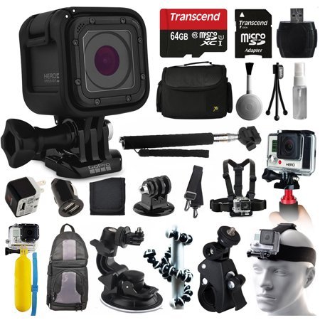gopro hero5 session hd action camera chdhs 501 all you need 64gb accessor. Black Bedroom Furniture Sets. Home Design Ideas